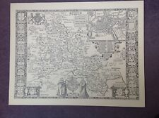 OXFORDSHIRE 1610 by John Speed   - Uncoloured