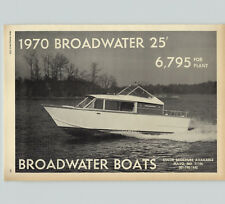 1970 PAPER AD Broadwater Motor Boat Boats 25' $6,795. Mayo MD Cabin Cruiser