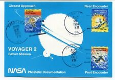 1981 Voyager 2 Saturn Mission NASA Philatelic Documentation Closest Approach SAT