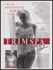 Anna Nicole Smith 1-pg clipping 2004 ad for Trim-Spa