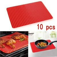 Silicone Pyramid Fat Reduce Oven Tray Cooking Mat Baking Sheet Pan Non Stick