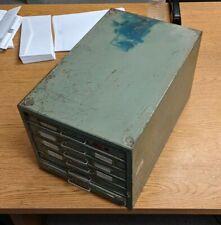 New listing Vintage Ftc Industrial Metal 6 Drawer Flat Card File Cabinet Finger Tip Control