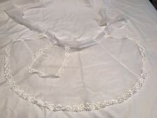 Vintage White Hostess Apron Lace Christmas Valentines Day Mad Men