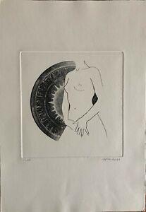 Lorenzo Spinazzi incisione acquaforte Figura  50x35 firmata numerata del 1973