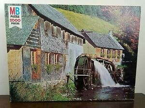 New Sealed NOS Vintage 1978 MB Magnum #4280 The Old Mill 2000 Piece Puzzle