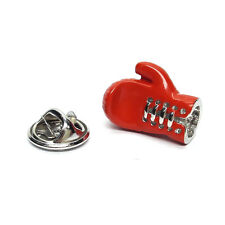 Red Boxing Glove Lapel Pin Badge Gifts For Him