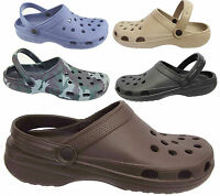 MENS CLOGS SPORT SANDAL GARDEN HOSPITAL NURSING PLASTIC CASUAL MULES SLIPPER NEW