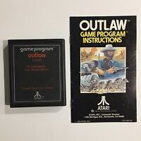 Atari 2600 Outlaw 1978 Game With Manual Tested