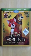 Disney THE FOX AND THE HOUND & THE FOX AND THE HOUND 2 Blu-ray +DVD +Digital NEW