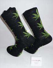LUCE VERDE Marijuana Foglia Design Calzini-BLACK SOCK. Rich calzini di cotone