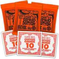 Free 10s & Ernie Ball 3215 Nickel Electric Guitar Strings 10-52 Slinky 3 Pack