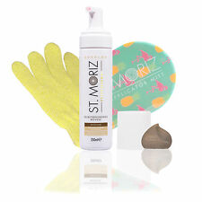 St. Moriz Medium Professional Mousse 200 ml & Original-Applikator & Horn-Peeling