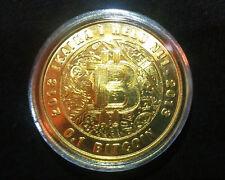 Lealana 2013 Brass  0.1BTC FUNDED Physical Bitcoin like Casascius coins
