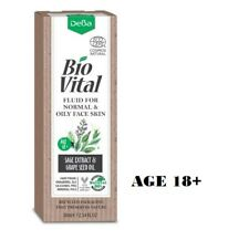 DeBa Bio Vital Face Fluid for Normal & Oily Skin Age 18+ with Sage Extract 30 ml