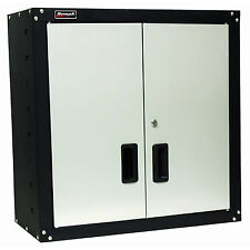 Steel Garage Wall Cabinet 2 Door Shelf Storage Unit Security Lock Shop Organizer
