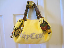 JUICY COUTURE YELLOW TERRY CLOTH TOTE HANDBAG WITH ALL THE DETAILS - NEW