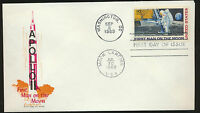 #C76 MOON LANDING Dual Cancelled  Cachetcraft  SPACE FDC UNADDRESSED  LOT 985