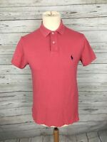 Men's Ralph Lauren Polo Shirt - Size Small - Custom Fit - Pink - Great Condition
