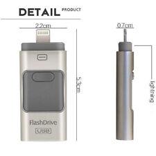 64Go OTG Lightning 8 pin + Micro USB / USB 2.0 Clé USB Clef Mémoire Flash / Gris