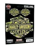 Harley Davidson Camouflage Bar Shield Decal Sticker Set USA 5.25 x 4.25 inches