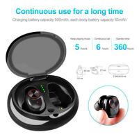 IPX7 Bluetooth 5.0 Headset Wireless Headphone Earbud Earphone Fit iPhone Samsung