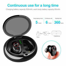 Bluetooth Wireless Earphones Earbud Stereo Headphones IPX7 For iPhone Samsung