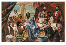 THE LAST SUPPER ART PRINT BY CORNELL BARNES Martin Luther King Malcom X poster