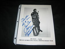 JIM CRAIG TEAM US HAND SIGNED AUTOGRAPHED 8X10 1980 OLYMPICS GOLD MEDAL CHAMPION