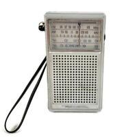 Radio Shack Realistic 12-613A Handheld AM/FM/TV1/TV2 Radio With Antenna & Strap