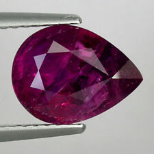 2.92 CT WORLD CLASS TOP GARDE PINK RED 100% NATURAL MOZAMBIQUE RUBY - Pear !!