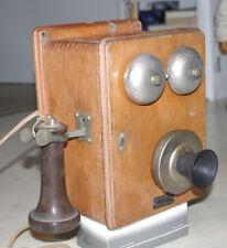Vecchio giapponese OKI muro TELEFONO LEGNO chassis telefono 06/1932