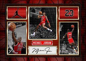 Michael Jordan - ORIGINAL A4 Signed PHOTO PRINT MEMORABILIA