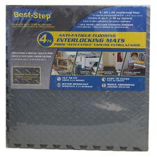 Best Step Anti Fatigue Interlocking Foam Tile Mats Gray (16 Pack)