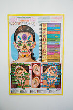 Facial and Ear Massage Poster Training Teaching Tactic Chart Printed