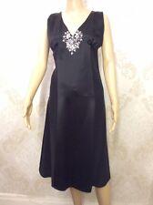 NEW M&S Autograph Ladies Black Party Backless Skater Dress Diamanté Size 22