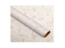 En Vrac 6 Rouleaux Asda 2m Gris Fleur Célébration Fête Papier Emballage Cadeau