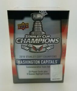 2018 Upper Deck WASHINGTON CAPITALS Stanley Cup Champions Commemorative Team Set