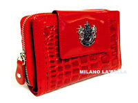 Red Pink Navy  LYDC Boxed Womens Animal Print Croc Purse Ladies Wallet