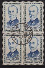 K45* Bloc de 4 Cachet 1960 (timbre France n°1251) Oblitéré, sans charnière, TBE