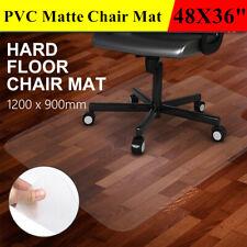 48x36 Smooth PVC Floor Mat Protector for Hard Wood Floors Home Office Desk Chair