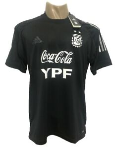 ARGENTINA TRAINING JERSEY T-SHIRT 2021 BLACK WITH SPONSORS