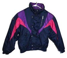 Vintage Descente Ski Snowboard Jacket Coat Insulated Navy Multi-Color Mens Sz M