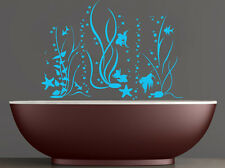 Seaweed Wall Decal Fish Decals Vinyl Bathroom Water Stickers Starfish Art MN986