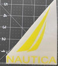 1 Nautica car vinyl sticker decal color Light Yellow