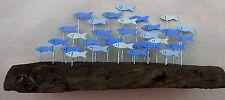 Seaside Shoal Of Fish On Driftwood  Decoration  Nautical FREE POST  NEW Coastal