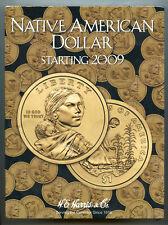 Coin Folder Sacagawea Dollar 2009 - Now Set - Harris Album 3162 Native American