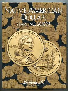 Coin Folder Sacagawea Dollar 2009 - Now Set - Harris Album 3162 Native American