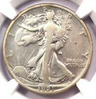 1921-S Walking Liberty Half Dollar 50C - Certified NGC VF Details - Rare Date!