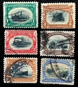 1901 US Stamps SC#294-299 Pan-American Exposition Complete Set Used CV:$120