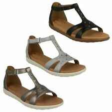 Clarks 100% Leather Sandals Flat Sandals for Women